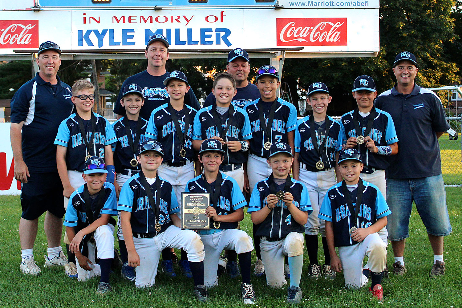 10U West Chester Dragons NL win 8th Annual ECTB Bases Loaded Showdown on July 8-9, 2017