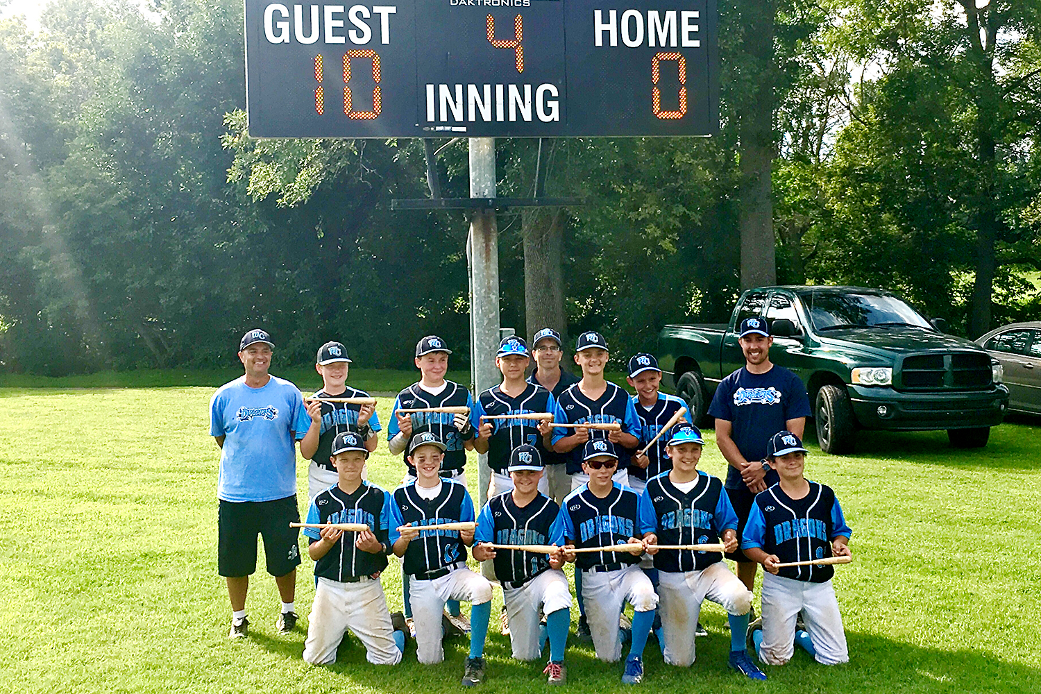 12U West Chester Dragons NL Baseball Team wins the 8th Annual Danielle DeLarso Community Benefit Tournament