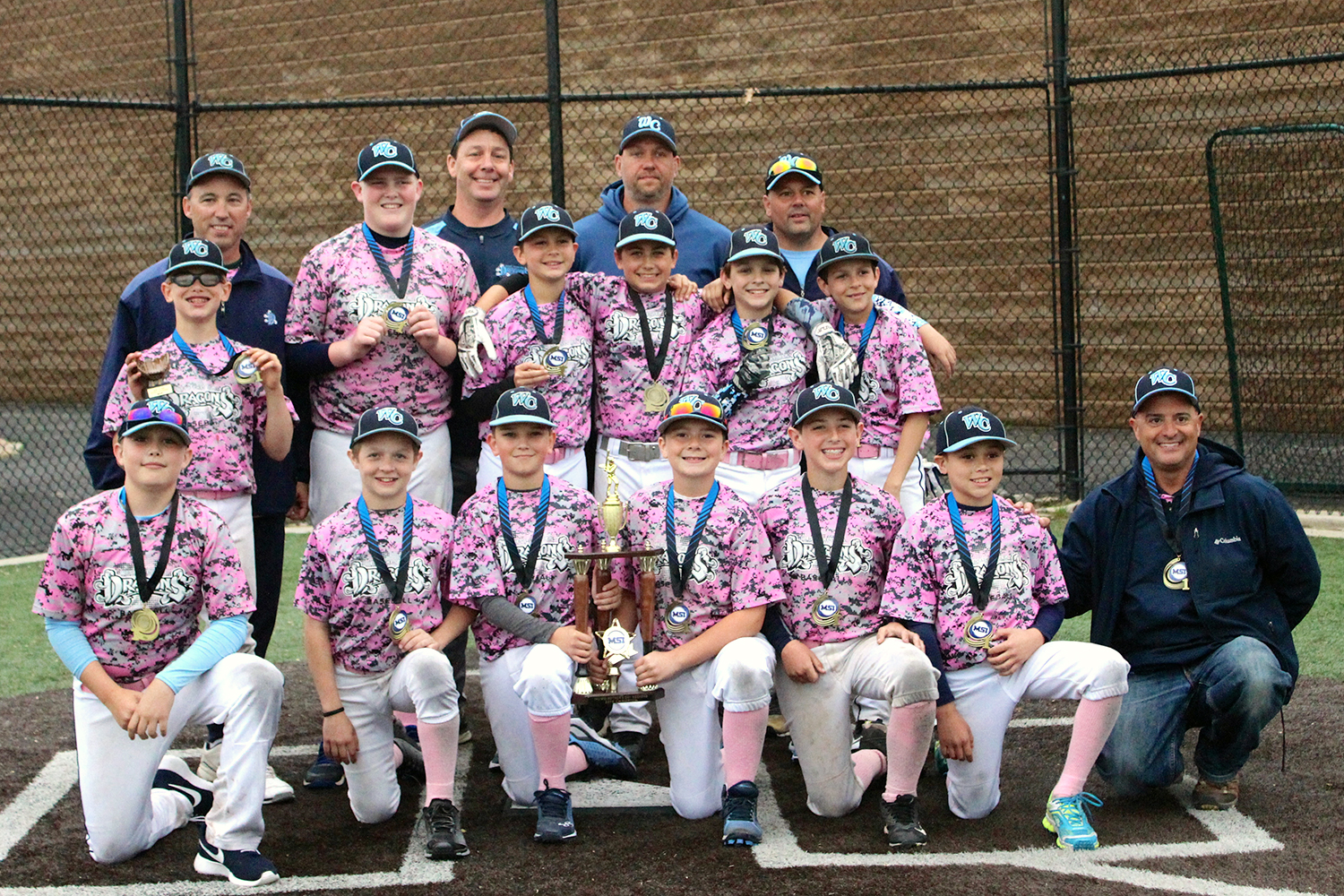 11u NL West Chester Dragons travel baseball team wins the MSI Mother's Day Tournament 2018 on May 13, 2018.