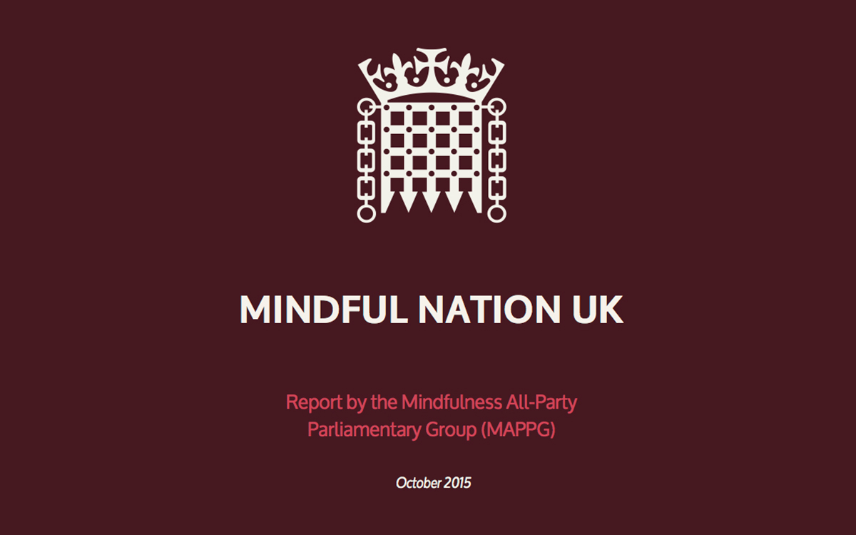 Mindful Nation All Party Parliamentary Report on Mindfulness