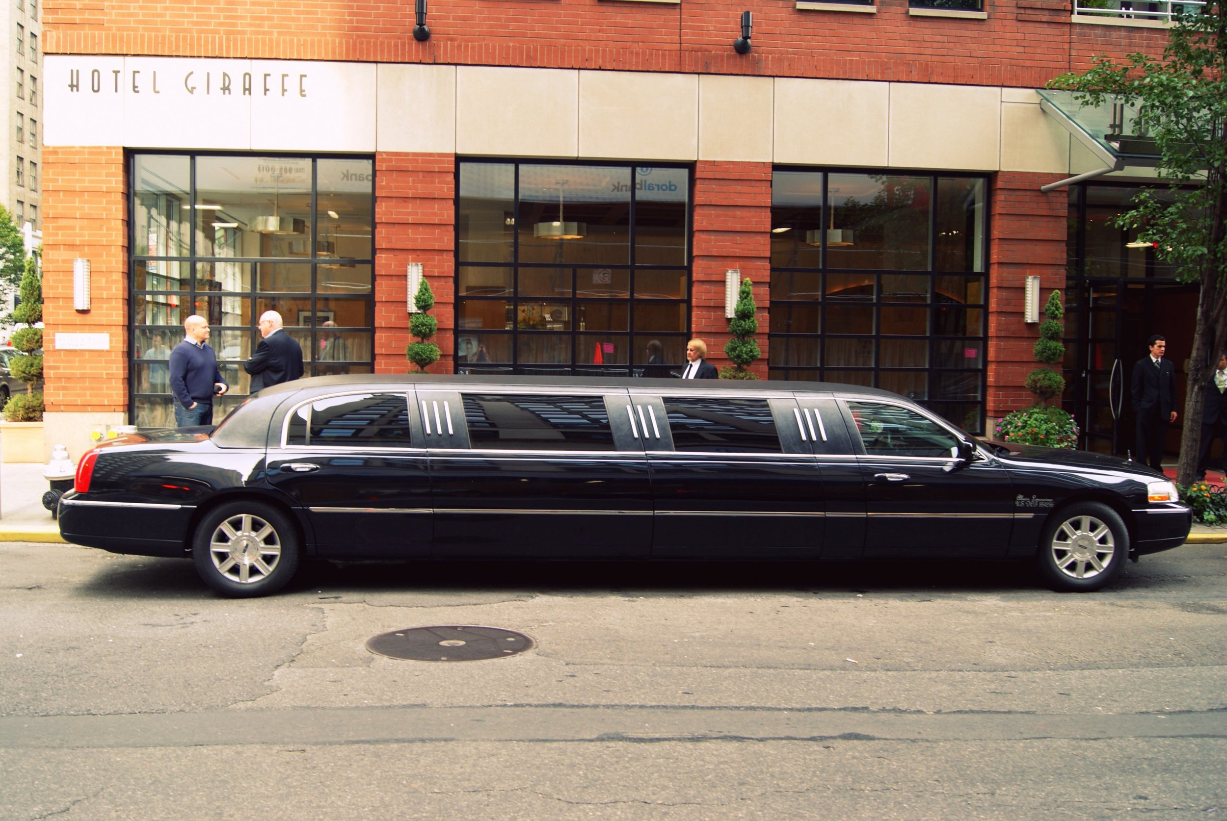 The limousine that our family friends John & Barbara had sent to our hotel. It picked us up and took us for a tour of the city before dropping us off on the Upper East Side! - october 2010