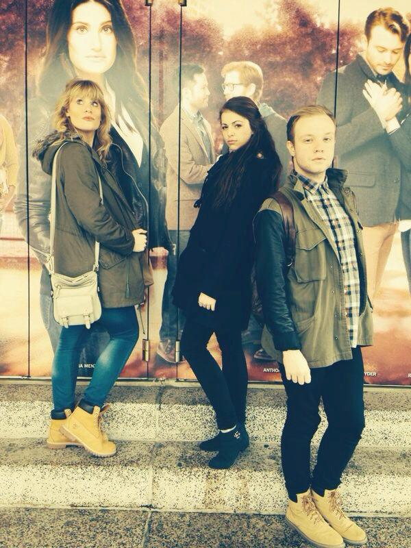 (From left to right) My friends Lauren Gordon, Maddy Banks and myself outside the Richard Rogers Theatre, at the time housing If/Then but the theatre now houses the original production of Hamilton! - March 2014
