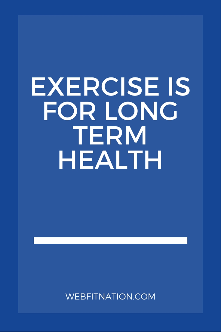 Exercise Is For Long Term Health