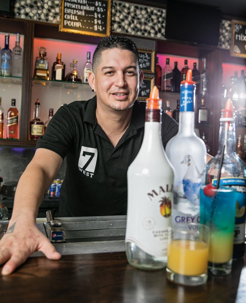 Jonathan Erasmus   Bartender – 7 West Bar Restaurant