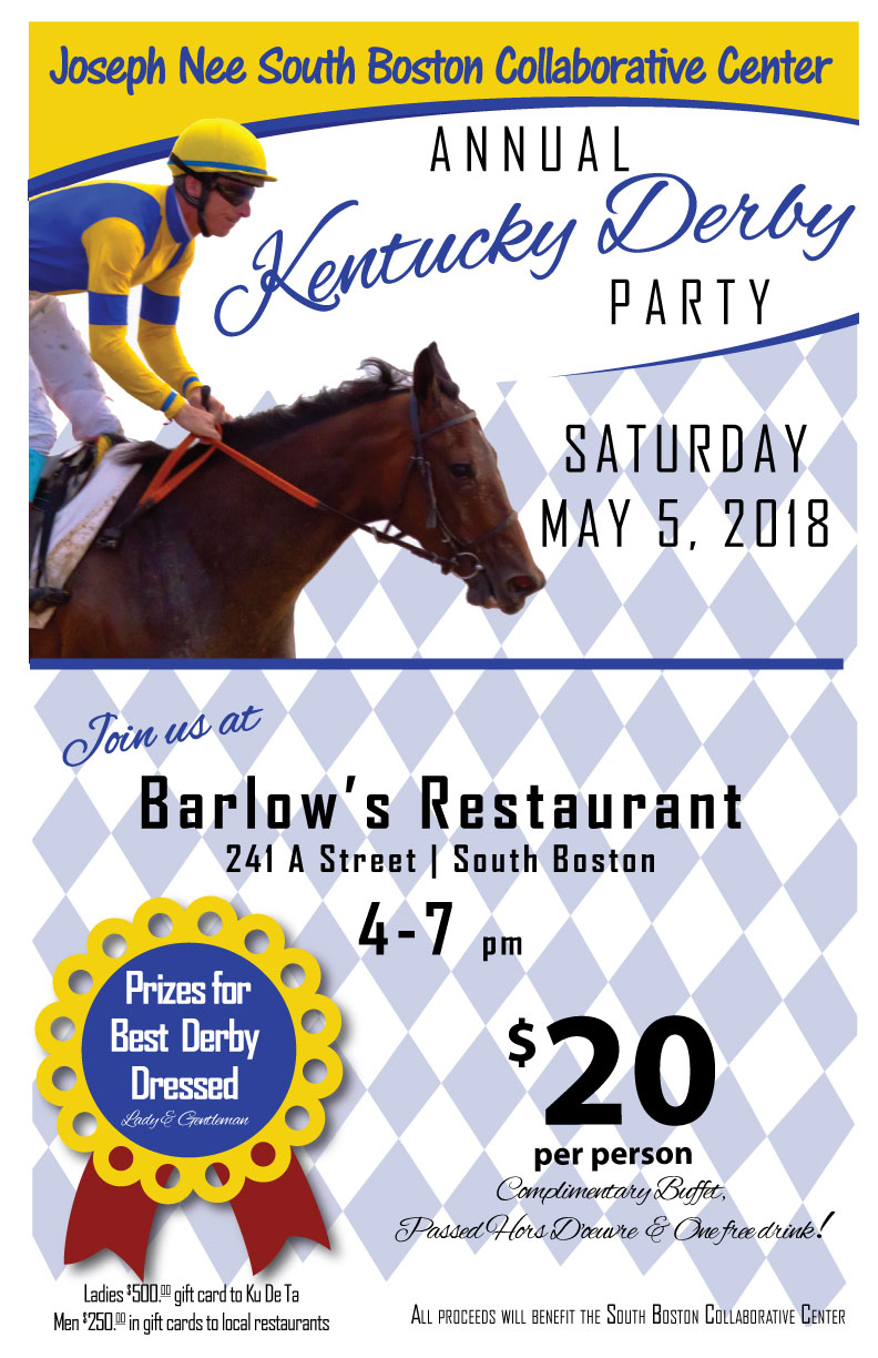 Annual Kentucky Derby Party - Come celebrate the Derby and support the Collaborative while you're at it!Call 617-534-9500 for more information.