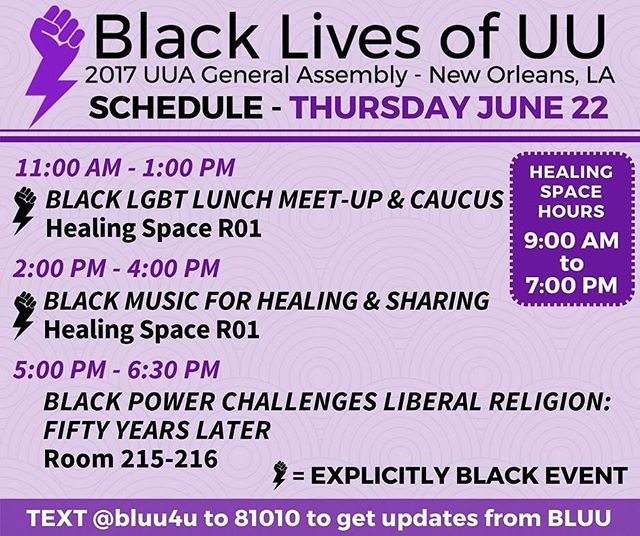 Healing space is open & there is lots of other #bluuga2017 activity planned!