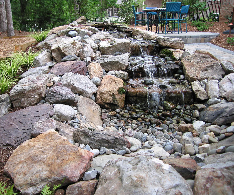 Woodland retreat custom water feature.