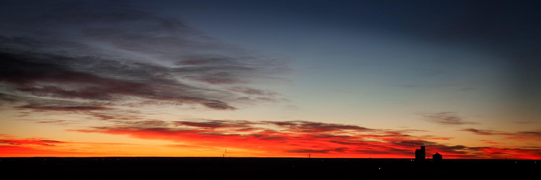 Sunrise in the Colorado plains.