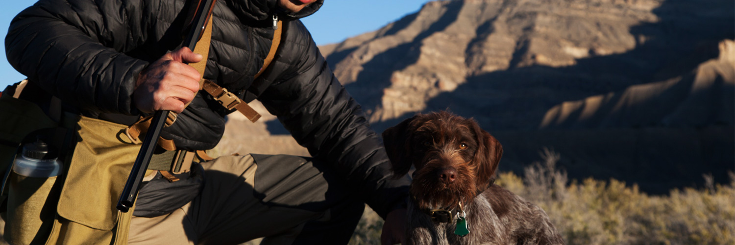 Bryce and his wirehaired griffon, Goose.