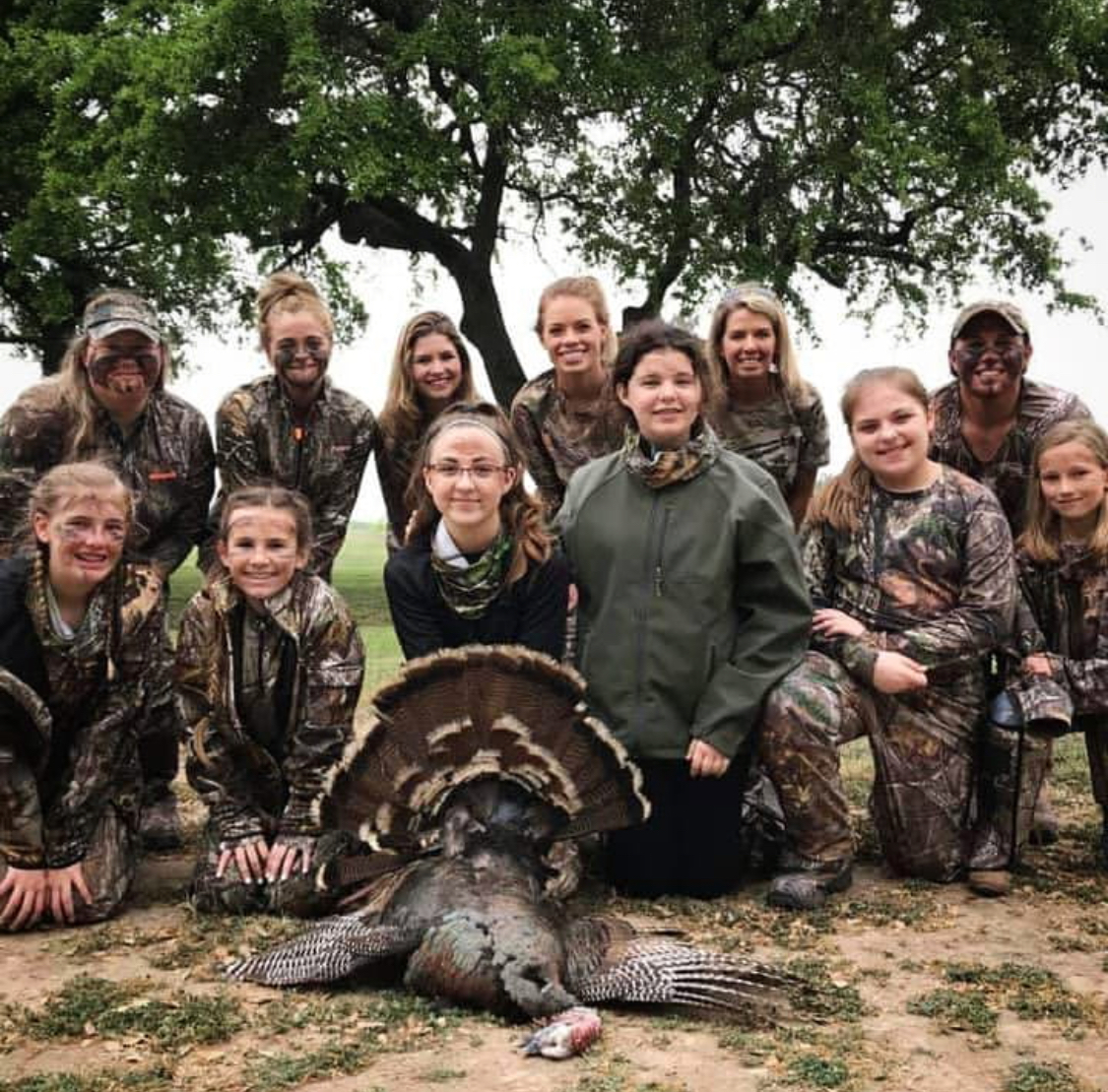 Trinity Oaks - Trinity Oaks is a 501C 3 Non-Profit that uses hunting, fishing, and the outdoors to give back and make a difference in someones life. Every year Kendall donates her time to multiple Trinity Oaks events including an All-Girl turkey hunt. They take out a group of young girls ages 16 and under on a turkey hunt and introduces them to the outdoor lifestyle. The kids get to hunt for completely free and enjoy learning different skills to make them a better hunter.[Read more about what Trinity Oaks does here.]
