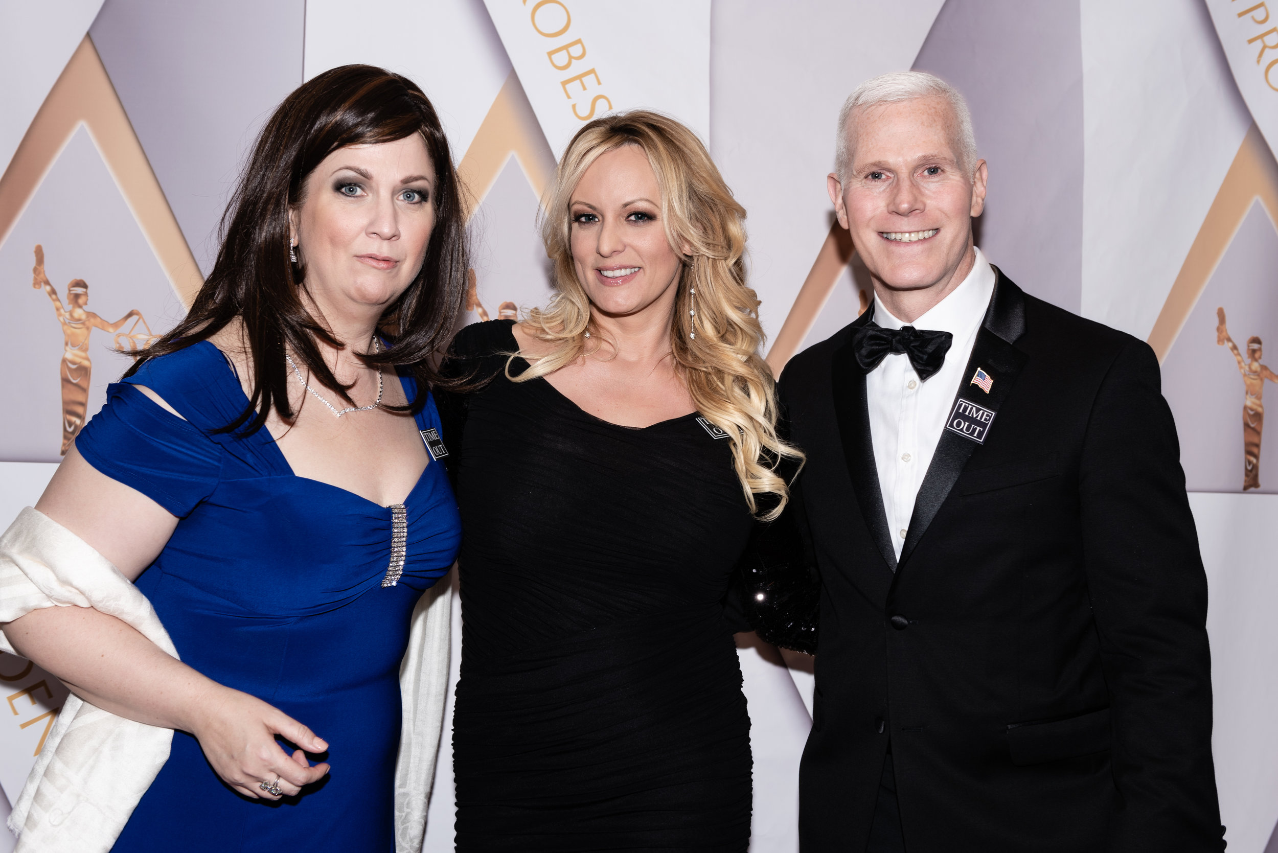 Sharon Spell as Sarah Suckabee Sanders, Stormy Daniels, Mike Hot-Pence