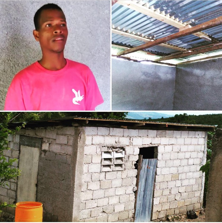 This is Elissaint and his new home. Funds were used to rebuild a new roof! Thank you for rebuilding lives, homes and communities!