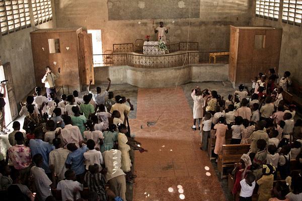 Inside the church, pre-earthquake