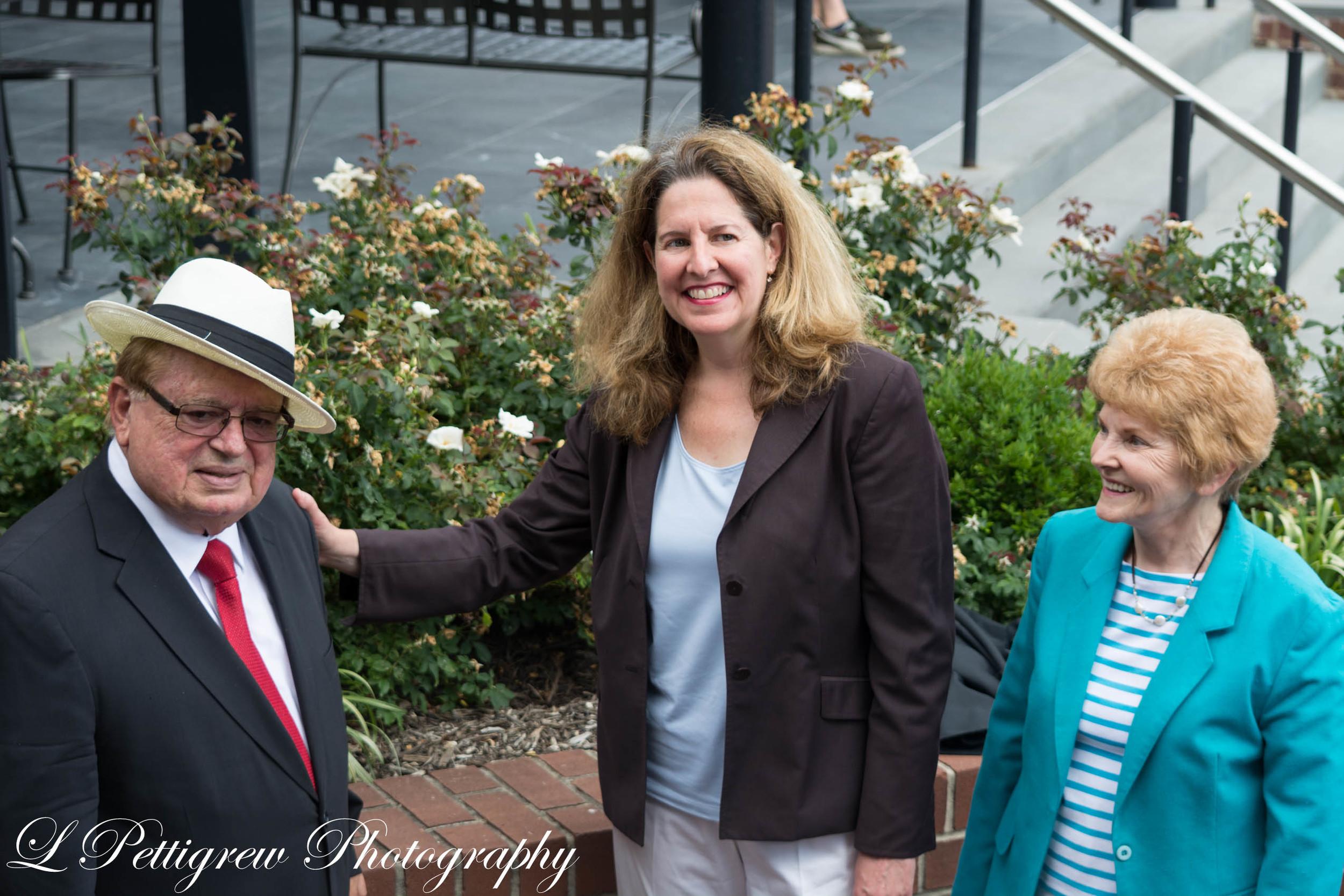 Engin Artemel, Mayor Silberberg, and Del Pepper