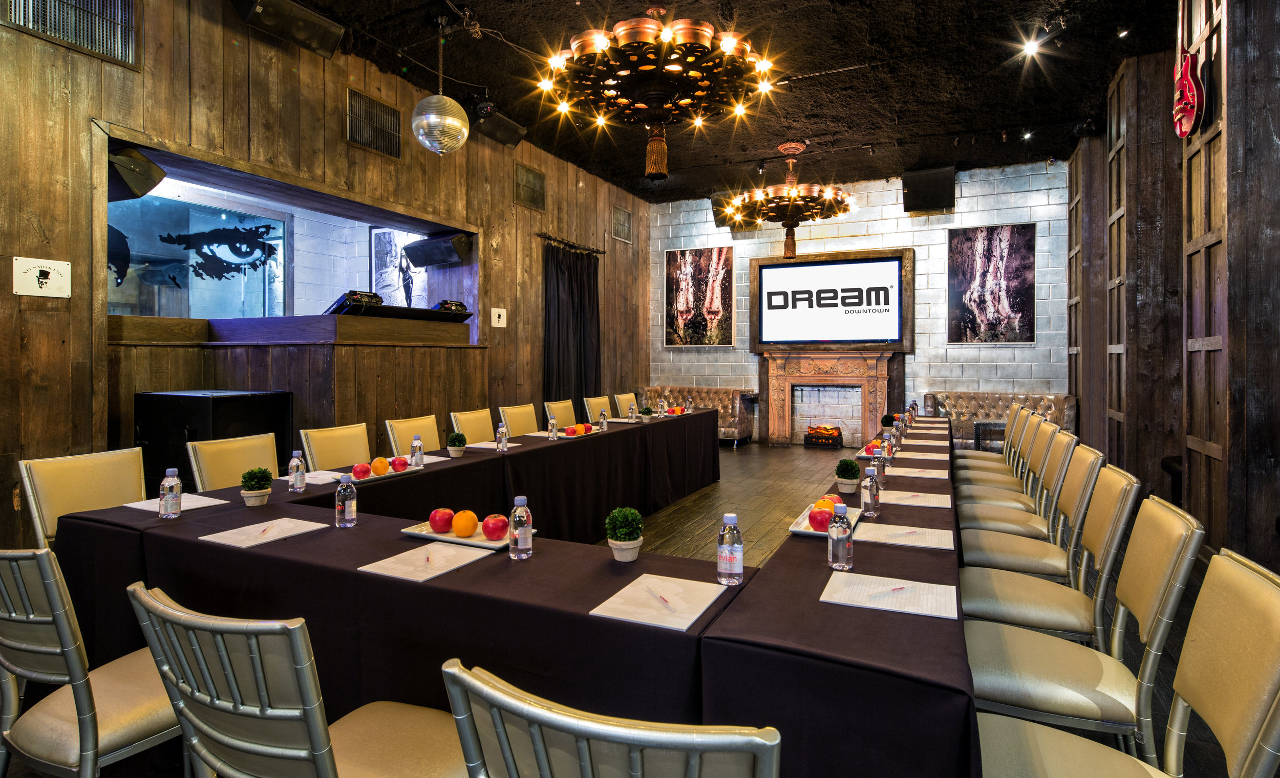Electric Room Private Event Setup