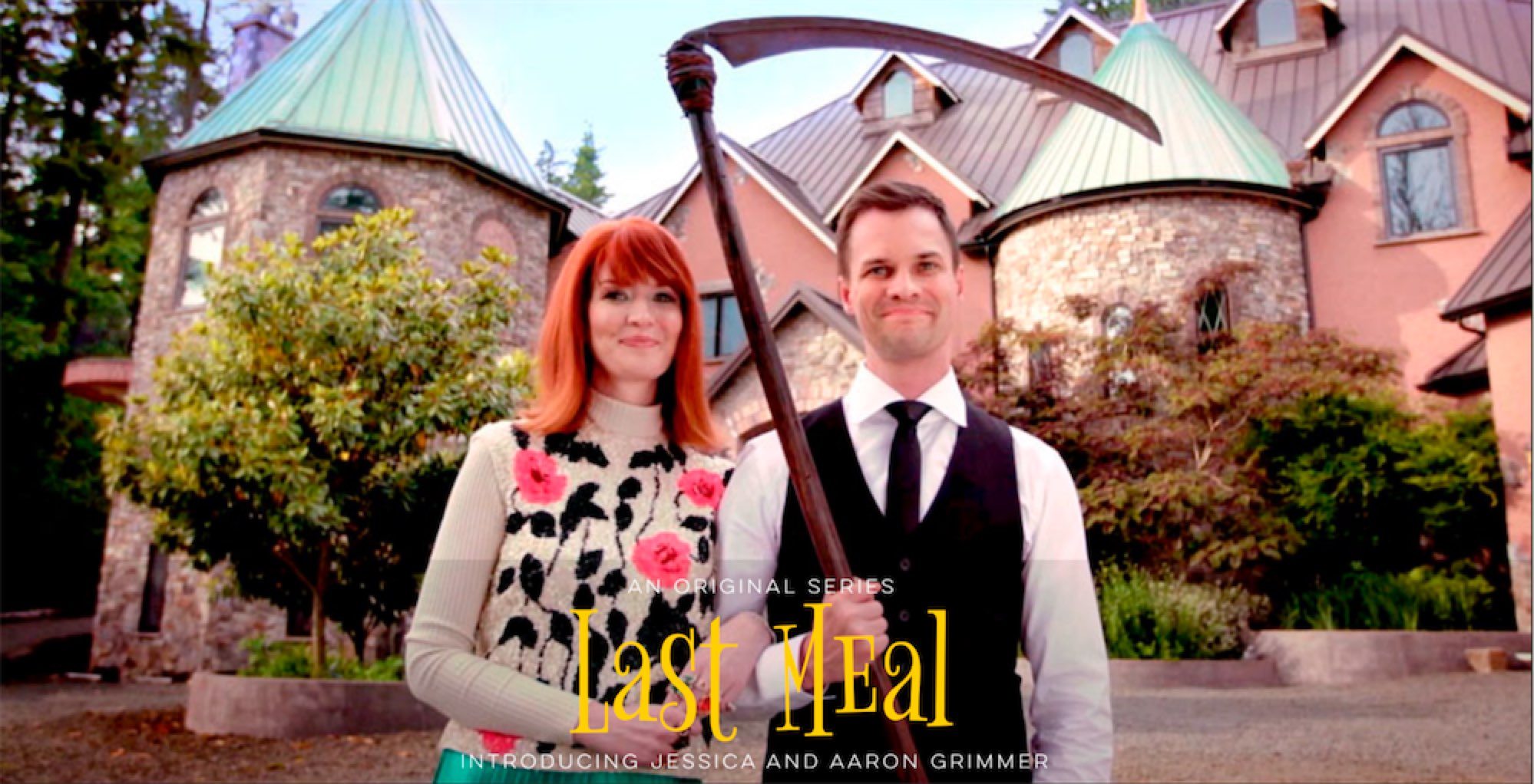 Coming early 2017, Last Meal is a six-episode web series that explores the deadly dinner parties of Aaron Grimmer, the son of the Grim Reaper, and his emotionally quirky, fashion-forward wife Jessica.   Captions and/or Subtitles Available Online
