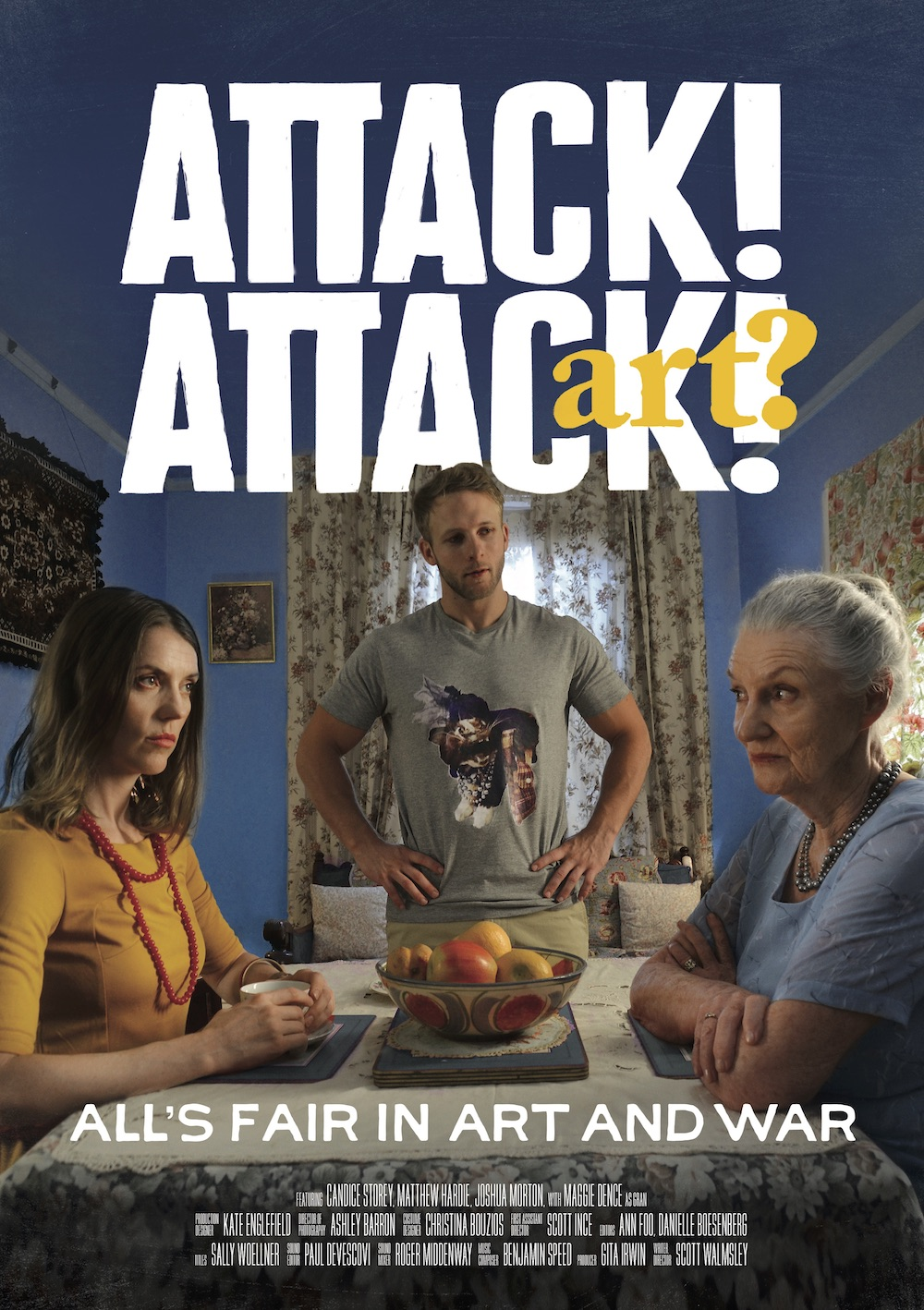 An idealistic artist discovers her diabolical grandmother is stealing her work and selling it online, a war erupts as she goes on the attack to defend her artistic integrity.