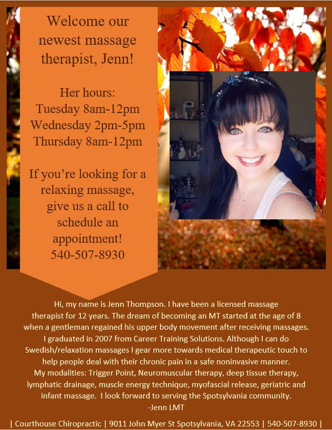 spotsylvania chiropractor massage