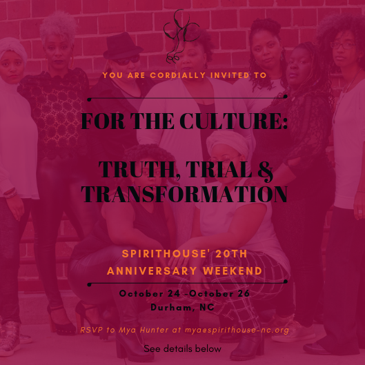 "Please mark your calendar for our very first ""For the Culture"" gathering on October 24 - 26, 2019. We have lots of amazing things planned including a HFZ Culture/Practice/Ritual skill share, documentary film screenings, a community sing along and a ""For the Culture"" awards celebration. We can't wait to share it with you!"