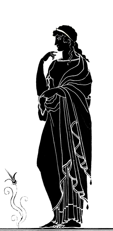 "Nereid (Black Figure)  2014, Digital print on paper, 11"" x 8 1/2"" © Leonard Porter MMXIV"