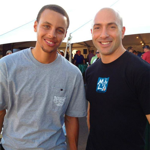Coach Henik &Steph Curry