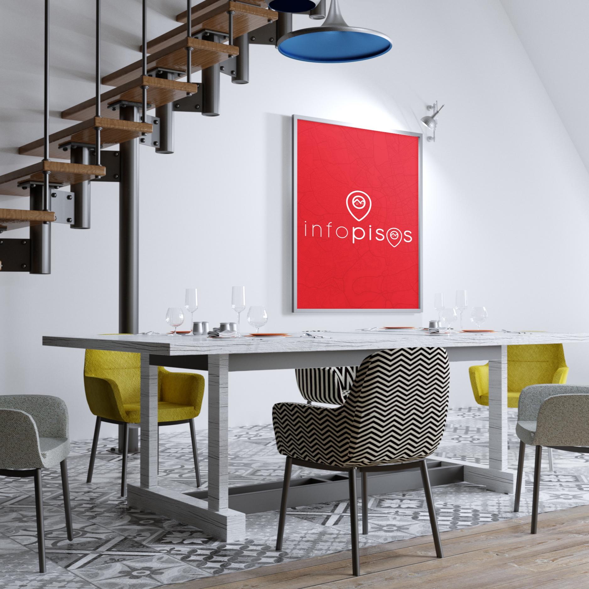INFO PISOS - Creación de la marca, manual corporativo, diseño de una aplicación, toda la imagen para tu local. Una imagen que será recordada para siempre.