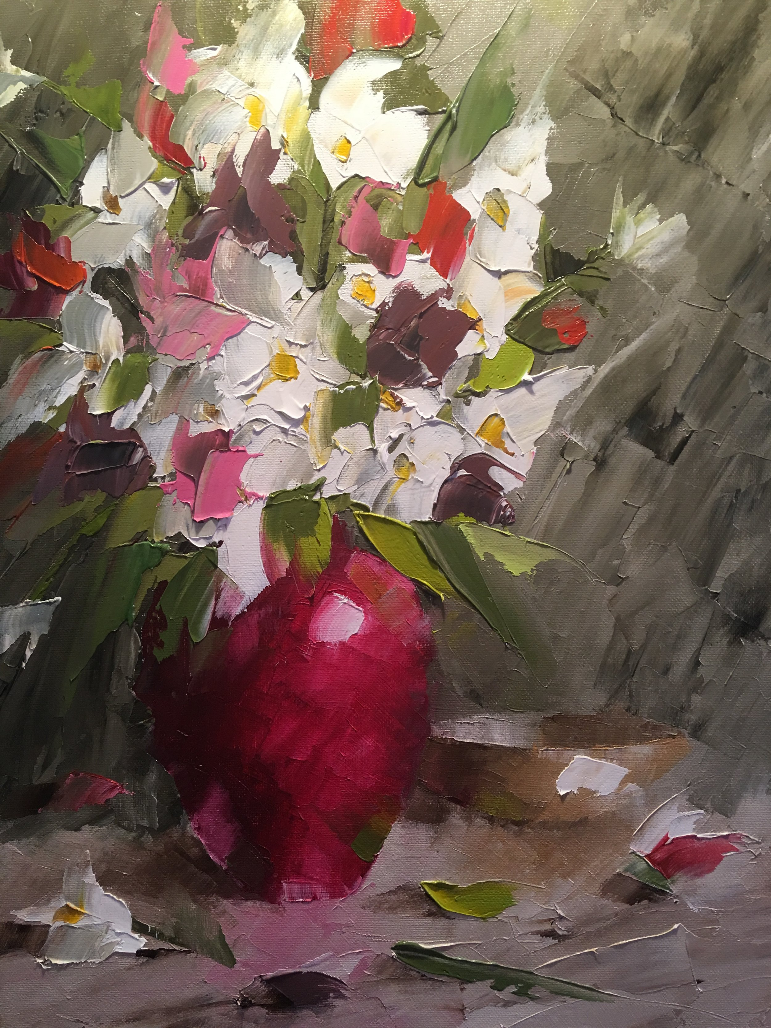 """Red Vase Bouquet"""
