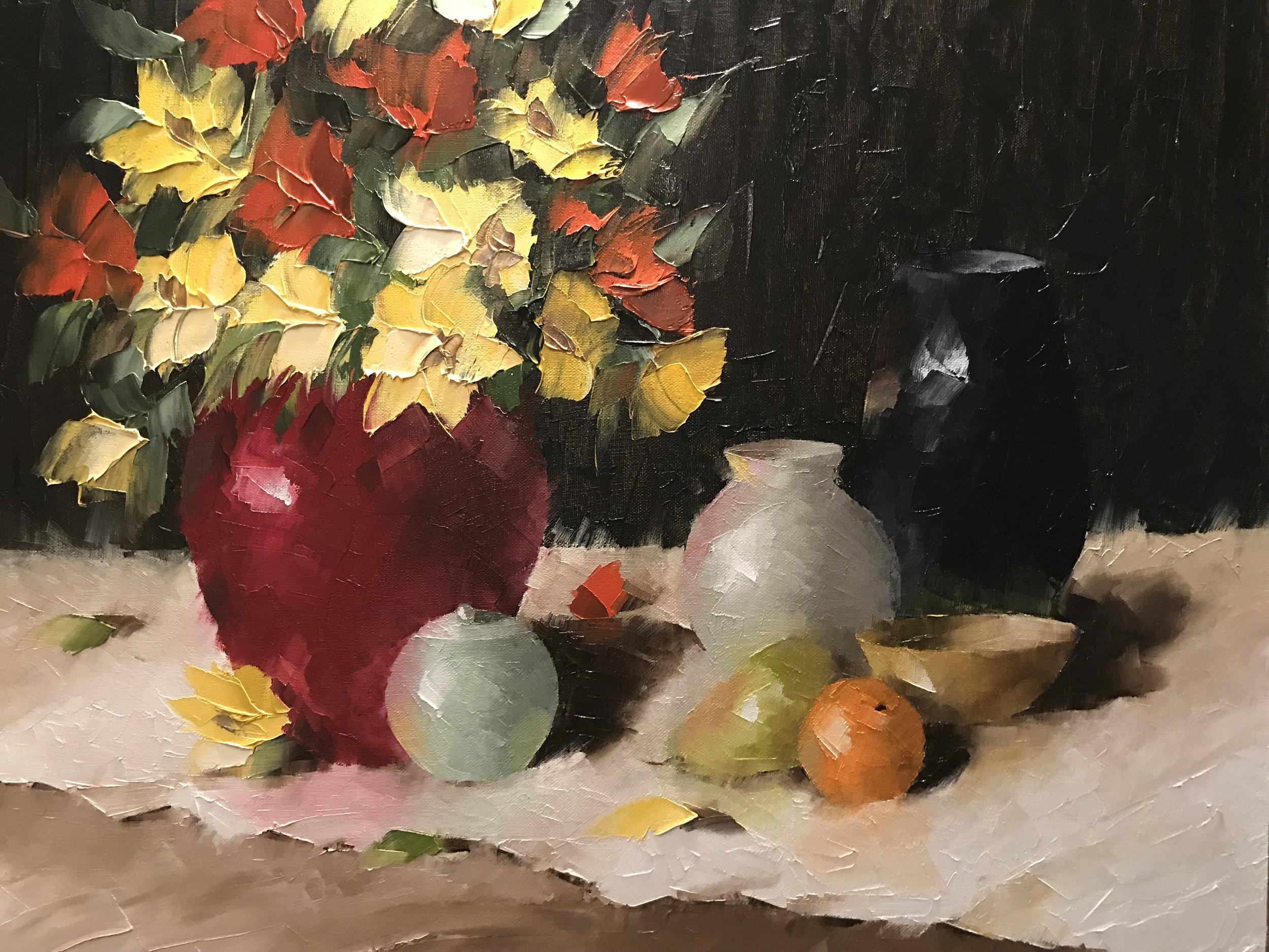 """""""Red Vase Still Life"""""""