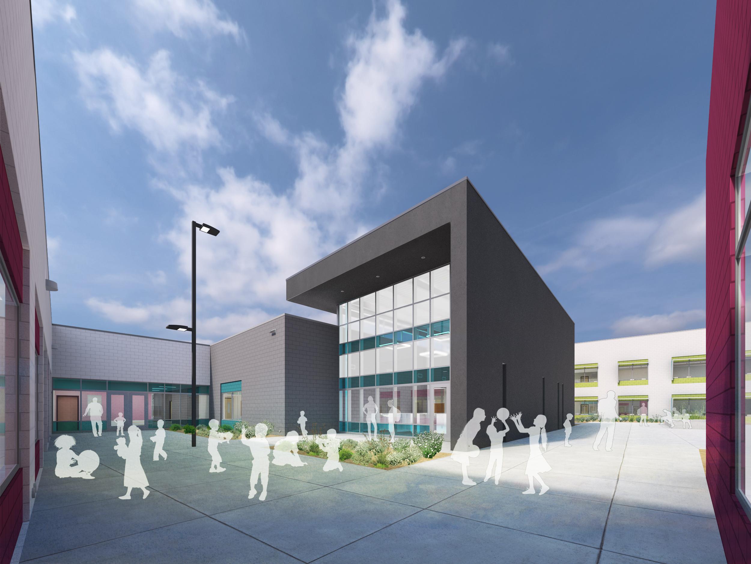 Lincoln Elementary School Exterior Rendering