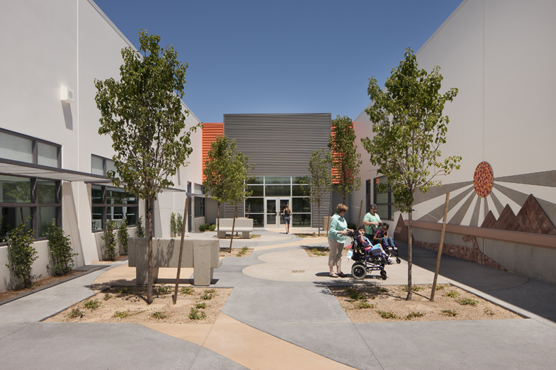 John F. Miller School Courtyard