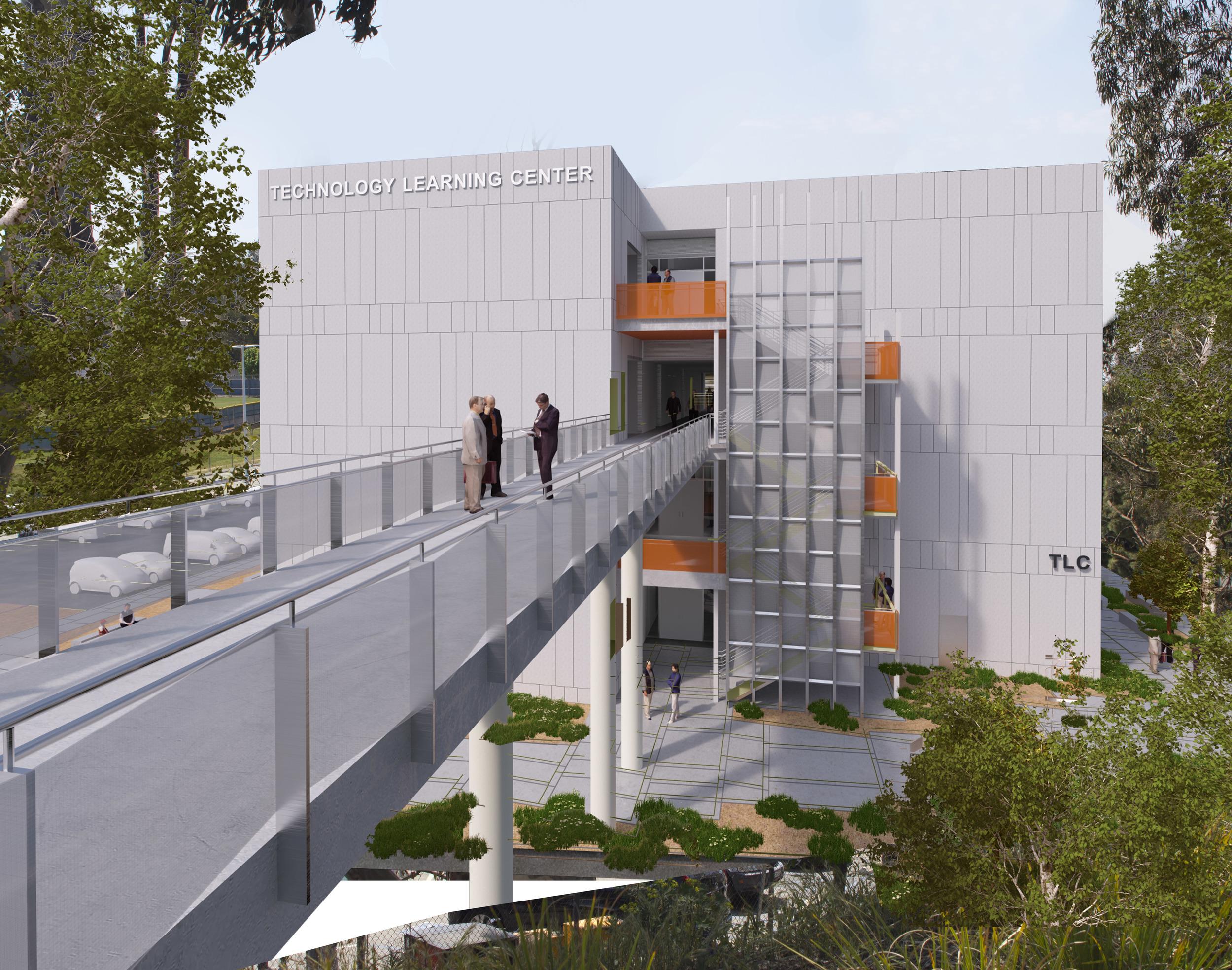 West Los Angeles College TLC Exterior Rendering