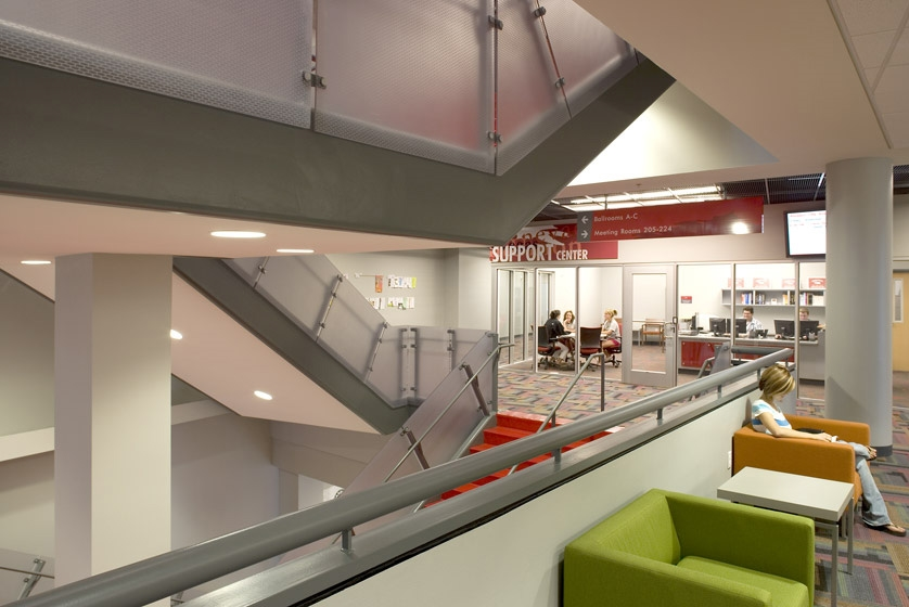 UNLV Student Union Second Level Seating Area