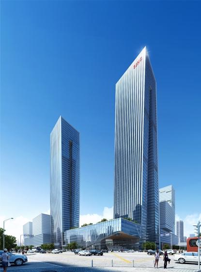 B-Tec Twin Towers Exteior Rendering