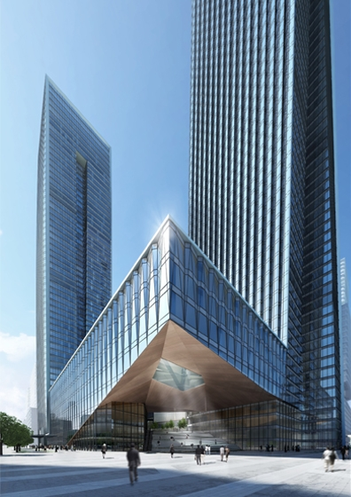 B-Tec Twin Towers Exterior Rendering
