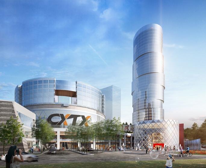 CXTX Auto City Phase 2 Exterior Rendering