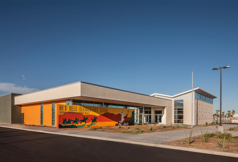 Rex Bell Elementary School Entrance Exterior