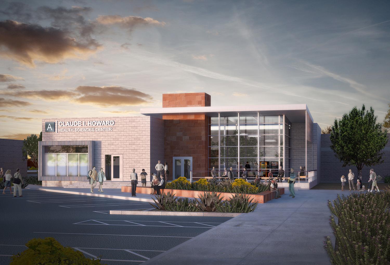 CSN Health Sciences Building Exterior Rendering