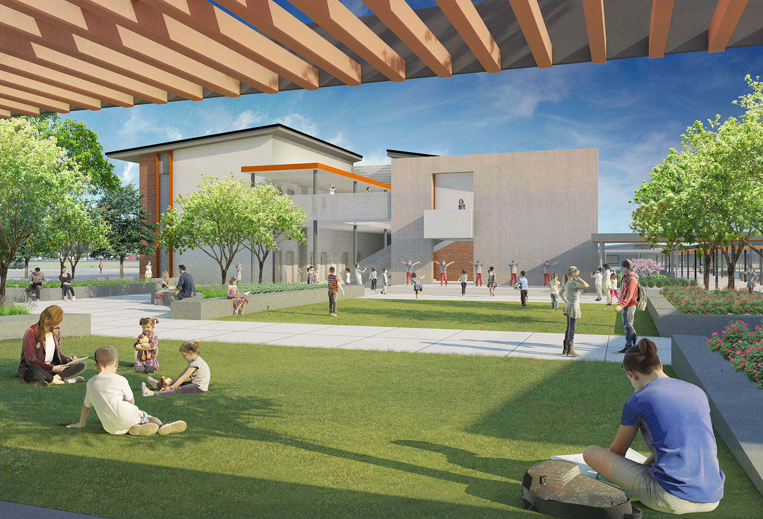 Sherman Oaks Center for Enriched Studies Rendering