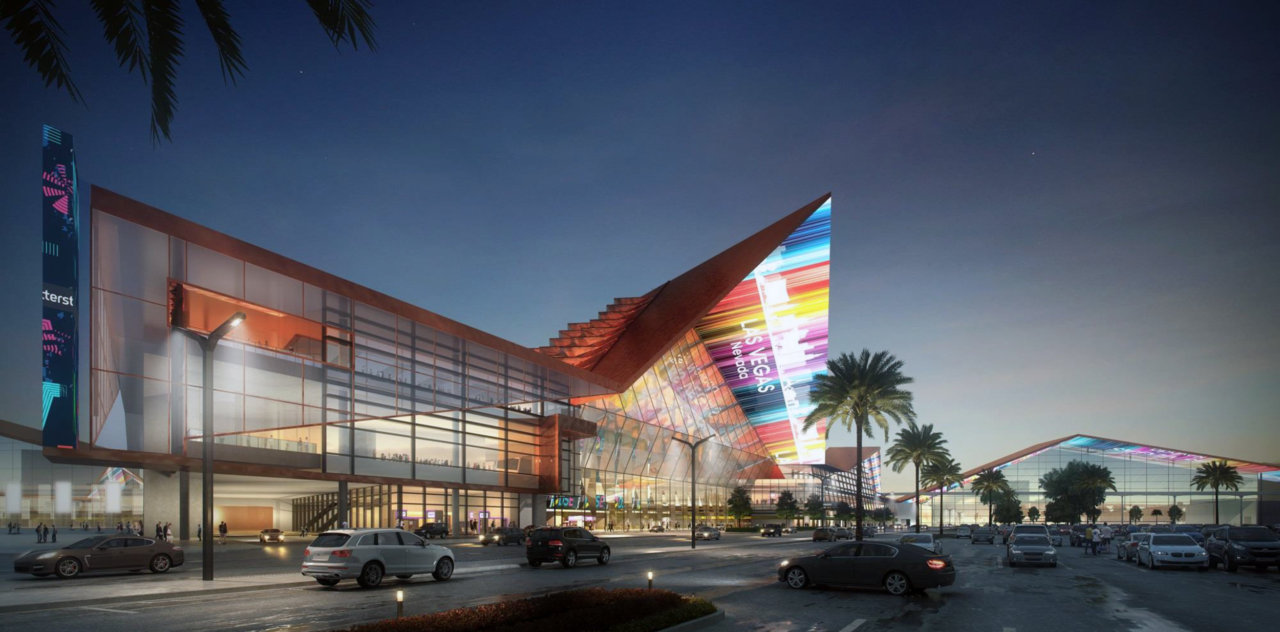 Rendering of the proposed convention center design