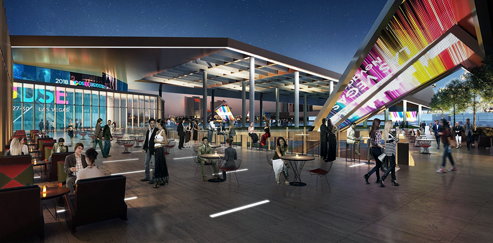 Convention center terrace rendering