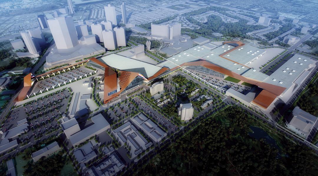 Las Vegas Convention Center Aerial View