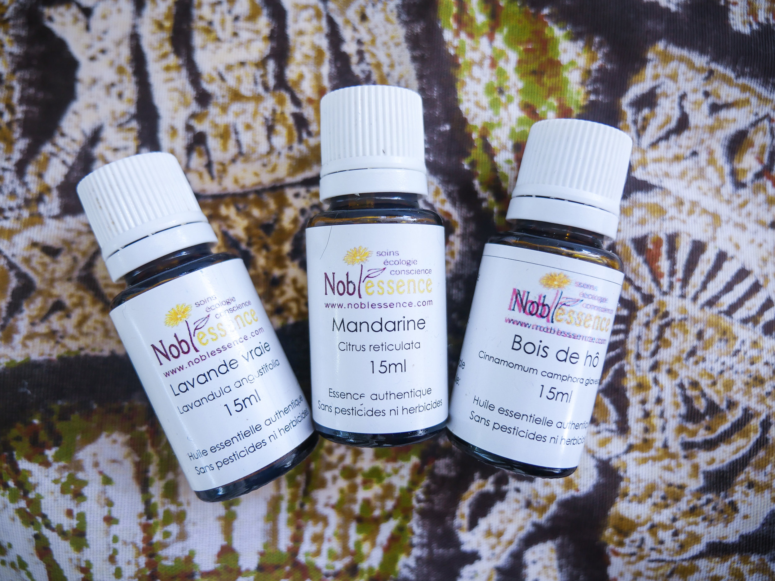 Lavender, Mandarin and Ho Wood: some of the essentials that are safe to use on infants once properly diluted.