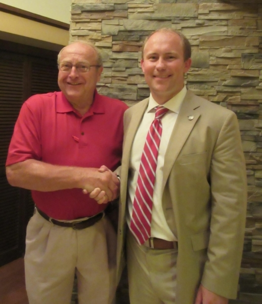 Ron Tusler with Rep. Al Ott