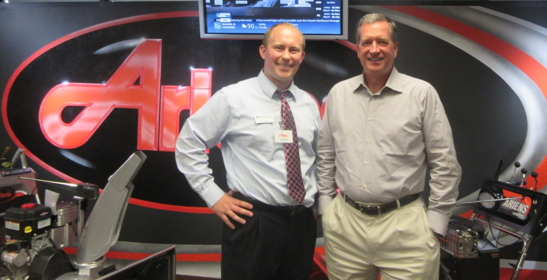 Ron Tusler with Dan Ariens