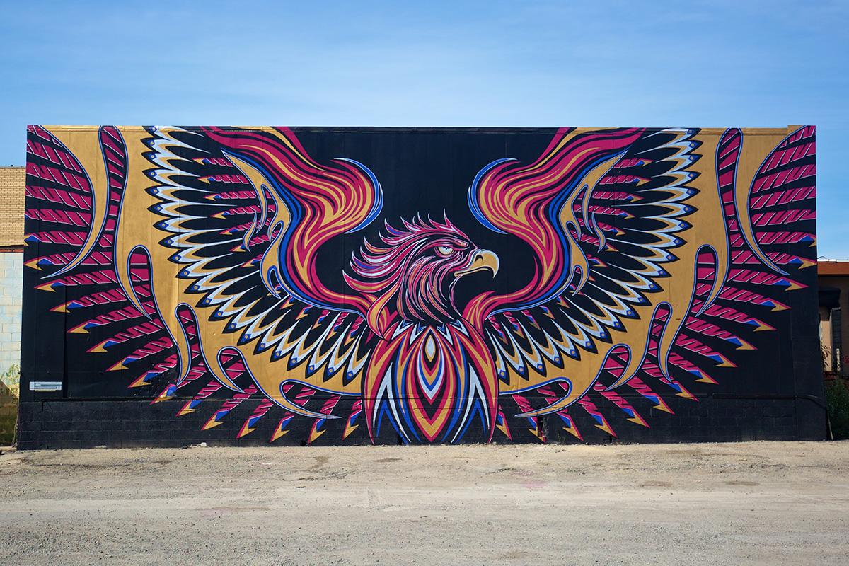 2016 Mural by Chris Saunders in Eastern Market, Detroit