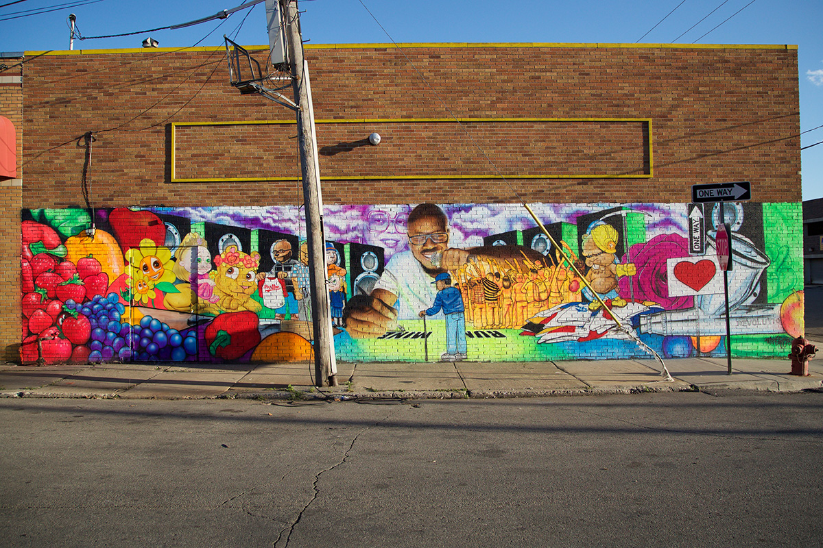 2016 Mural by Clifton Perry in Eastern Market, Detroit