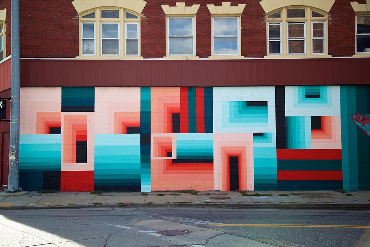 2016 Mural by Dalek in Eastern Market, Detroit