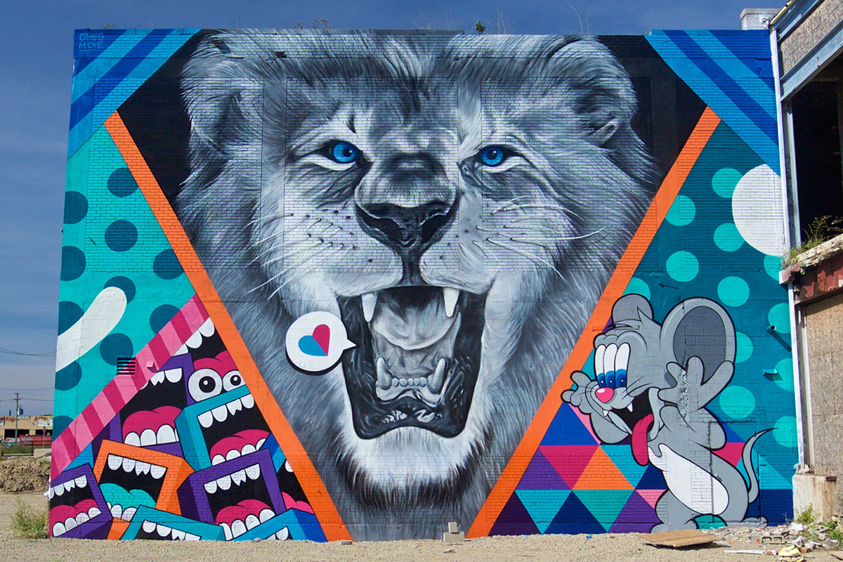 2016 Mural by Greg Mike in Eastern Market, Detroit