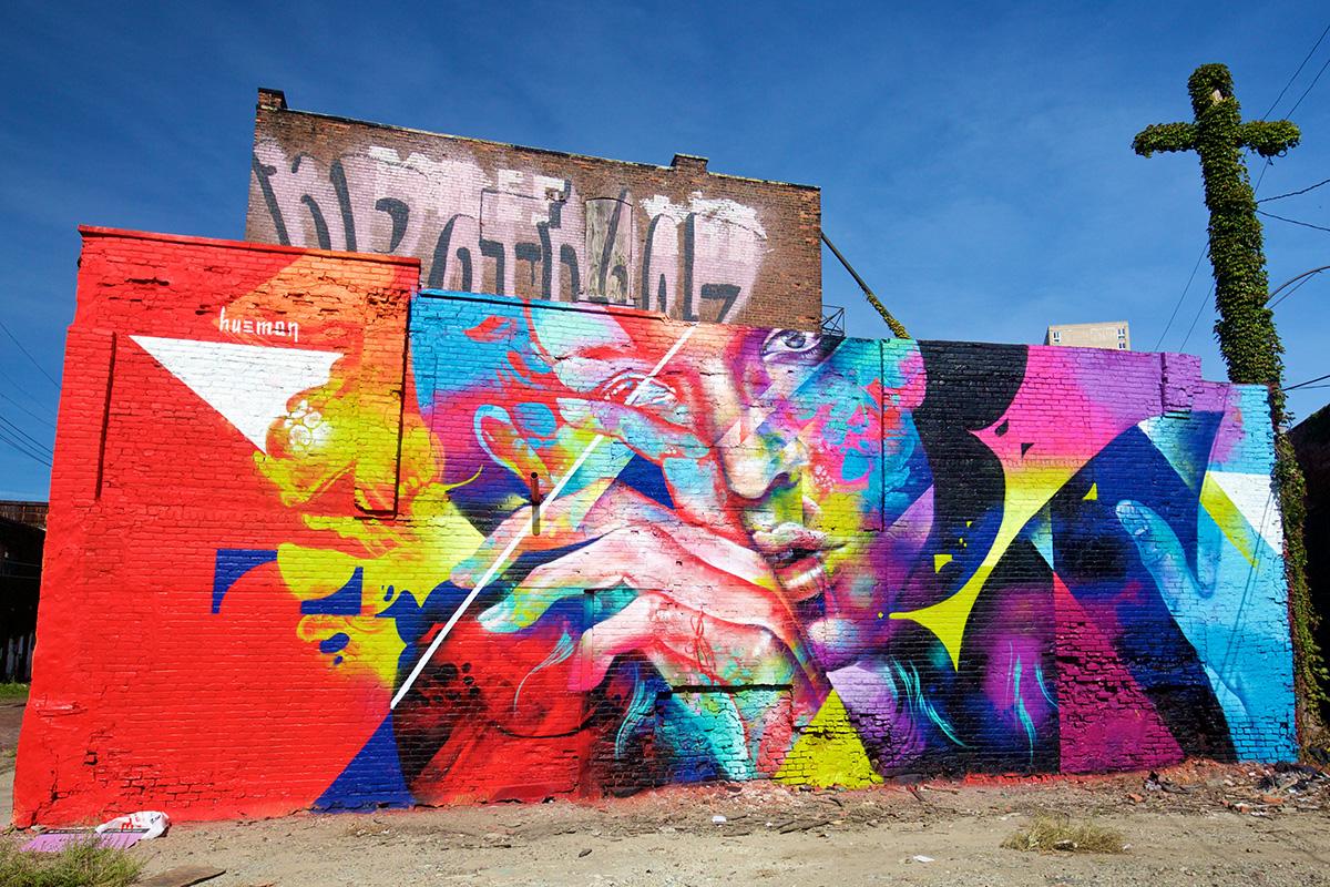 2016 Mural by Hueman in Eastern Market, Detroit
