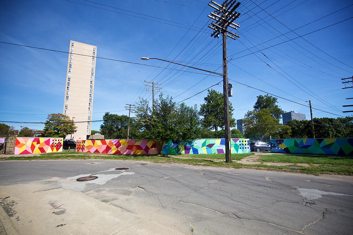 2016 Mural by Kristin Farr in Eastern Market, Detroit